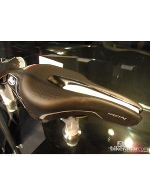 The new triathlon/time trial Selle Italia Iron saddle in its prototype form