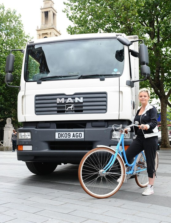TV presenter Gail Porter launched a safety campaign highlighting HGV danger to cyclists in 2010