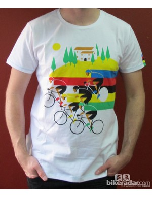 The Après Vèlo Worlds Rainbow T-shirt