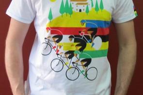 The Après Vèlo Worlds Rainbow T-shirt