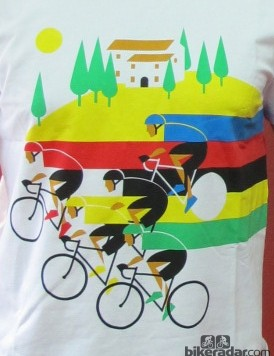 The Worlds Rainbow shirt brings the spirit of Florence and the World Championships to a wearable item