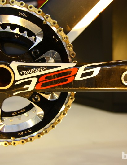 Wilier worked with FSA for the BB386 cranks and bottom bracket system, which works with a variety of frame BB sizes