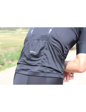 For such a lightweight jersey, the pockets hold up well. The side pockets are cut at an angle for easy access
