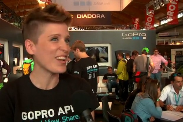 GoPro's Isabel Pakowski laughing lots about a potential GoPro Hero 4