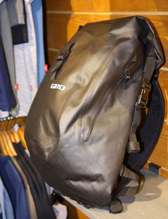 Giro's Commuter 2.0 Backpack has a rolltop, waterproof design