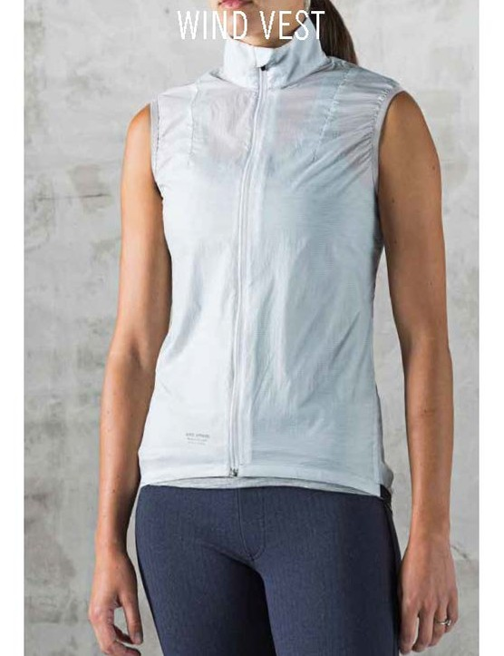 The Giro New Road Wind Vest has reflective piping and mesh on the back