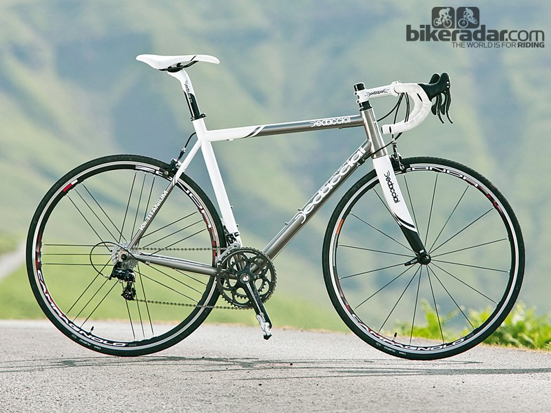 The K-19 is a sharp, rapid-riding and modern interpretation of a titanium race bike