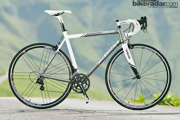 The K-19 is a sharp, rapid-riding and modern interpretation of a titanium race bike