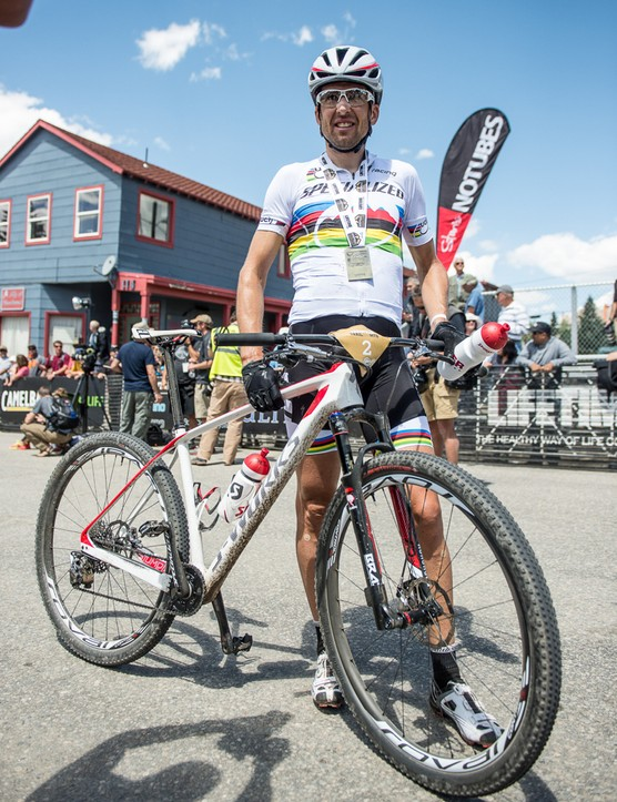 Specialized World Cup racer Christoph Sauser chose to race his S-Works Stumpjumper hardtail at Leadville