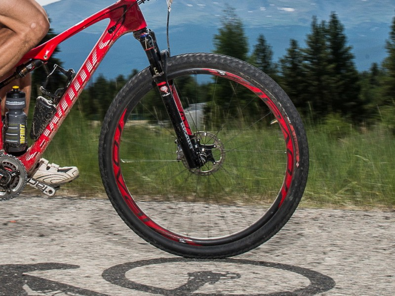 At 1,350g, Specialized's carbon Roval wheels are quite light. Based on previous Roval testing, they could be the chink in the Epic's armor