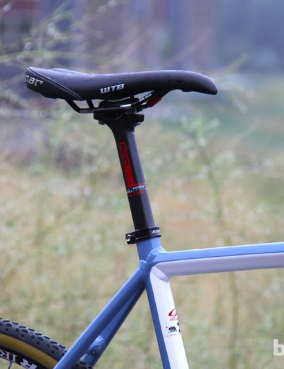 Niner's own carbon seatpost will come with complete bikes. The company claims the RDO seatpost is designed to flex twice as much as other carbon seatposts