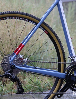 The Niner RLT 9 has chainstays that are slightly longer than a race-bred cyclocross bike for increased stability over rough roads