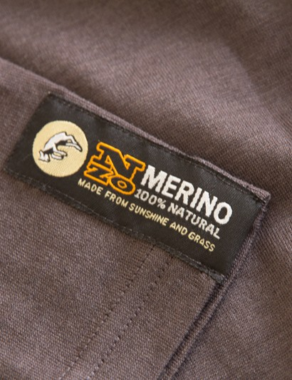 Not much branding on the Bart Merino T - just simple style