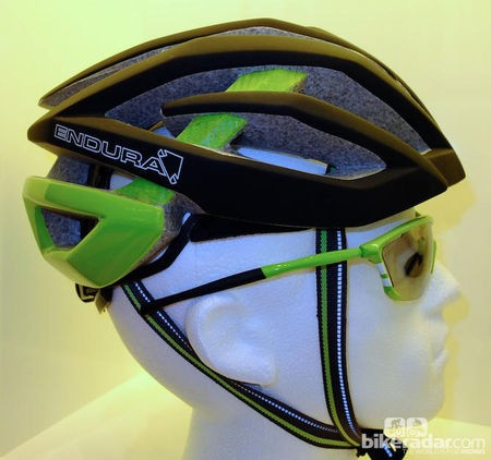 Endura prototype helmets at Eurobike 2012 have green accents similar to Movistar, which was probably just a coincidence