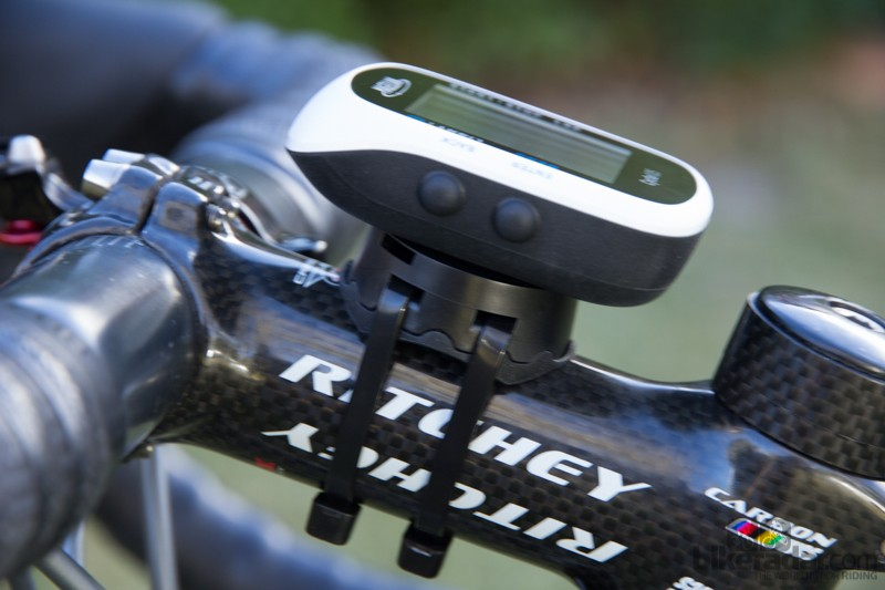 The Magellan Cyclo105 includes a bar mount that is attached with zip-ties and is rock-solid. The Cyclo105 can also be used with a Garmin 1/4 turn-style mount