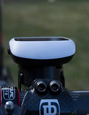 The Magellan Cyclo105 mount places the unit high. The plus-point is that the Cyclo105 will fit with many stems and bar combinations