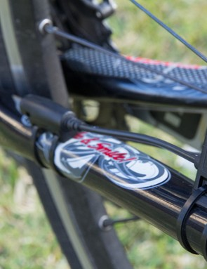 The Cyclo 105 HC also features an ANT+ speed/cadence sensor – it worked well, but sure is ugly