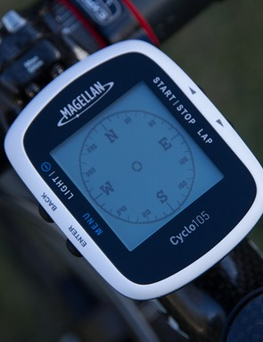 The Magellan Cyclo 105 features basic navigation, with no on-screen mapping