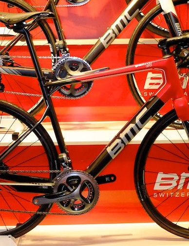 BMC's GranFondo GF01 gains hydraulic disc brakes for 2014 alongside the rim braked version