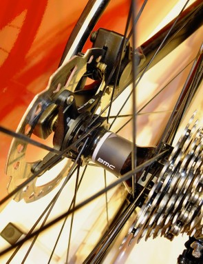 An agreement with near neighbours DT Swiss permits BMC labels to be placed on their hubs