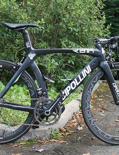Sprinter Sacha Modolo's (Bardiani Valvole-CSF Inox) muscular MCipollini RB1000 on the eve of the Tour of Britain