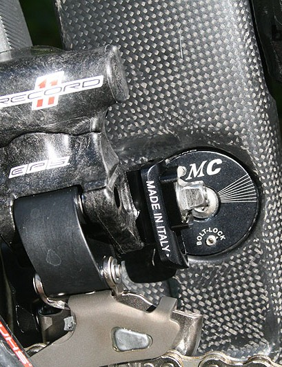 The bolt-lock front derailleur mounts on the RB1000 are adjustable