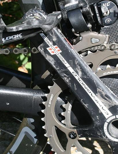 Modolo's chainring choice was standard 53x39