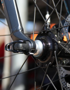 While Felt's fat bike prototype has front and rear quick-release axles, the production version will likely sport thru-axles