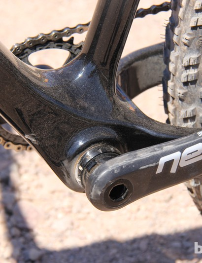 The Yampa has a 100mm wide bottom bracket shell