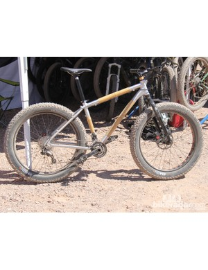 Boo Bicycles line of value-oriented aluminum and bamboo bikes includes this Aluboo fat bike