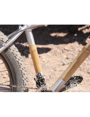 The seat tube is also bamboo