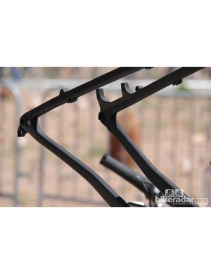 The Fatback Corvus frame will use post-mount disc brake mounts and use a 190x12mm thru axle