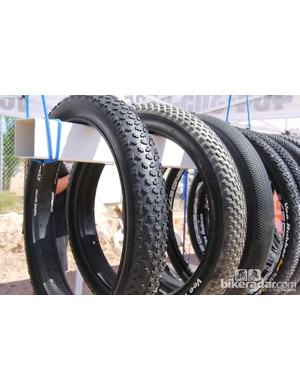 Vee Rubber had a number of fat bike tires on dislay