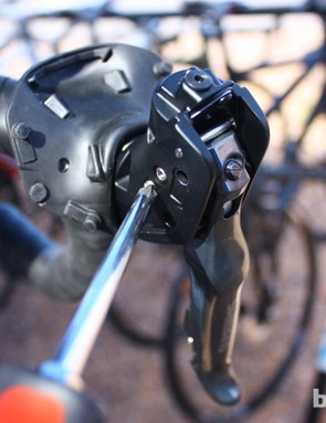 Free stroke is adjusted with a phillips screwdriver and controls where in the stroke the brakes begin to function