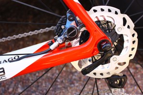 Shimano specifies that the R785 levers and calipers be used with its ICE-Tech rotors. While debate remains on whether 140 or 160mm is best for road applications, Shimano say the full production versions of the brakes will use 140mm rotors