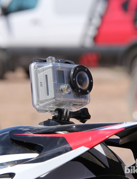 The Transfer-9 comes with a removeable GoPro mount, designed to break loose in the event of an impact