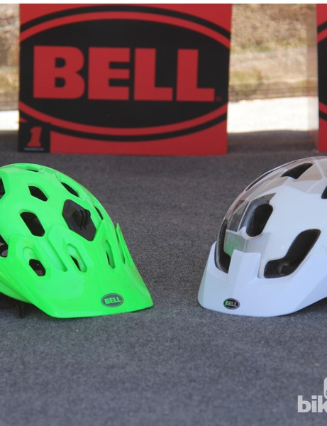 The new Stoker (right) is a value-oriented version of Bell's Super trail/enduo helmet (left)