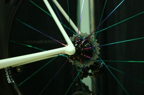 Fairwheel Bikes Interbike 2013: And the rear skewer screws into the frame