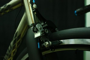 Fairwheel Bikes Interbike 2013: Lightweight components like these calipers from KCRC keep the weight down to 13.8lb