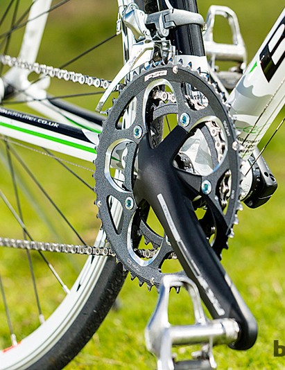FSA's Omega cranks lend a soft feeling to the bike