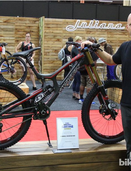 BikeRadar Most Wanted 2013: Rob Roskopp alongside the Santa Cruz V10 that BikeRadar readers voted the best in class