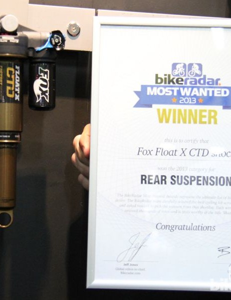 BikeRadar Most Wanted 2013: The Fox Float X CTD shock took top honors for rear suspesion