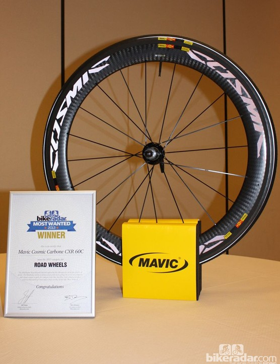 BikeRadar Most Wanted 2013: Mavic's Cosmic Carbone CXR 60c walked away with Most Wanted Road Wheel