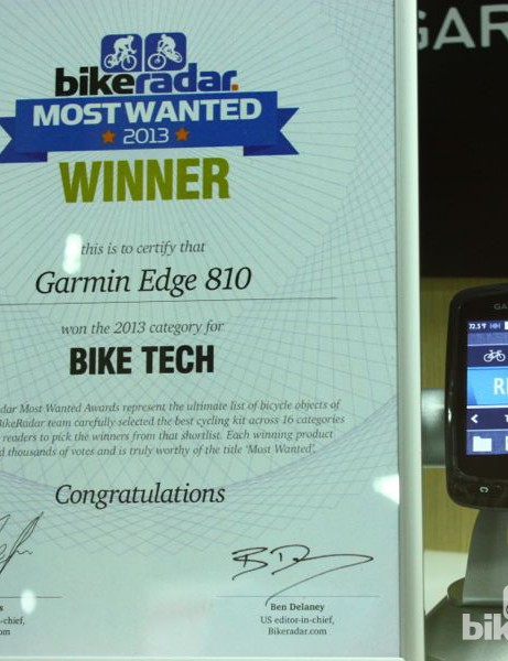 BikeRadar Most Wanted 2013: The number one gadget bike riders would like to put on their bike is the Garmin 810