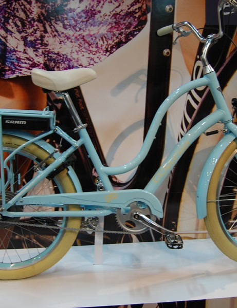 The women's version of the Townie Go! bike with SRAM pedal-assist
