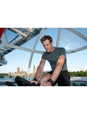James Cracknell takes on his first challenge inside the London Eye: cycling on a Wattbike, as part of the Duracell Power Me campaign