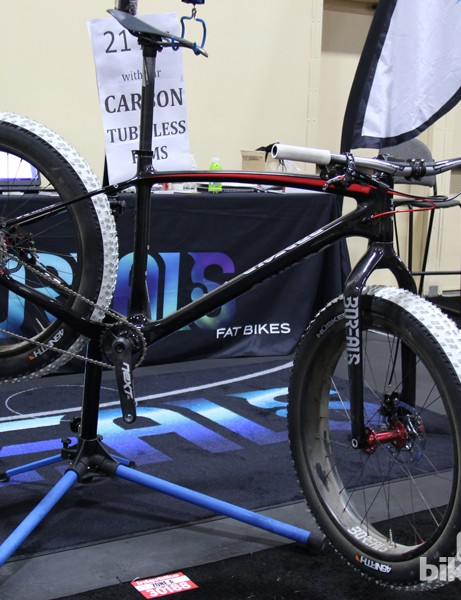 Best in Show, Interbike 2013: Not only did Borealis design a light carbon fat bike, they're introducing double-walled carbon rims as well