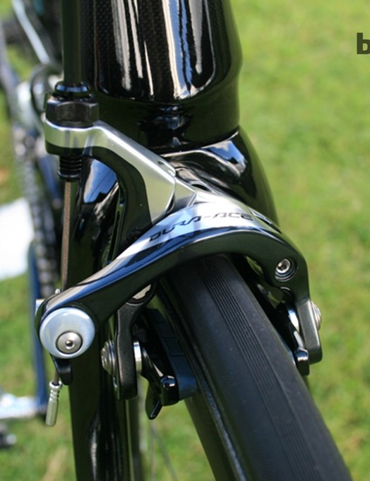 Stannard's bike is equipped with 2014 Shimano Dura-Ace components