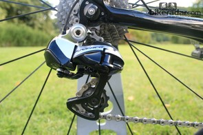 There wasn't the slightest dink or scratch on Stannard's bike – reflected in the shiny newness of his Dura-Ace 9000 rear derailleur