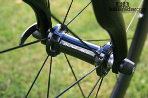 On the eve of the Tour of Britain, Stannard's bike was set up with blacked out Shimano Dura-Ace C50 wheels